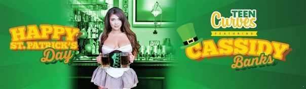 Cassidy Banks  - A Buxom St. Paddys Bar Maiden  [HD]