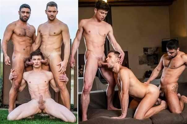 Andrey Vic And Wagner Vittoria Double-Team Ruslan Angelo / Lvp307-01 Double The Raw Dick, Scene 1