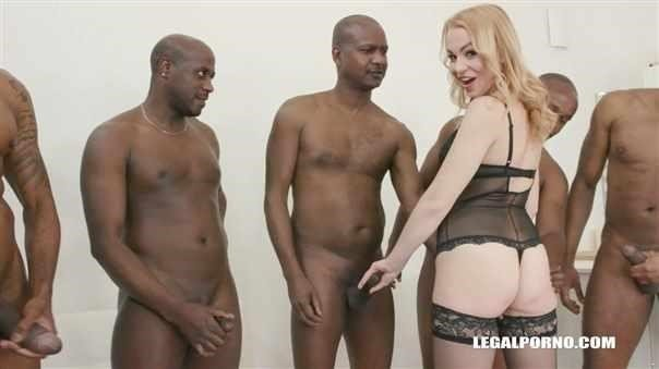 Rebecca Sharon Goes Balls Deep Double Anal With 8 Black Guys Iv288