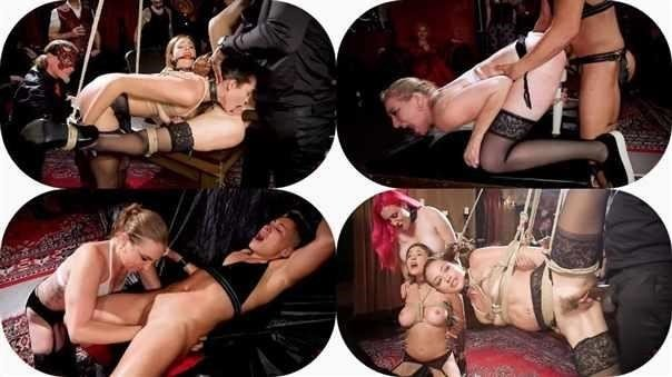Aiden Starr, Krissy Lynn, Avi Love - Teen Whore Trained In Anal Bondage By Milf Sex Servant [SD/540p]