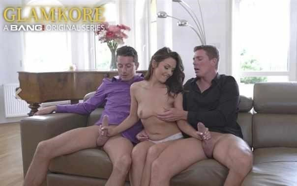 Dominica Phoenix Cums Hard During A Double Penetration Threesome