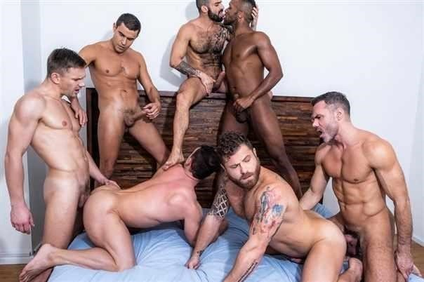 Alexander Volkov , Riley Mitchel , Rafael Carreras , Manuel Skye , Andre Donovan , Edji Da Silva , Andrey Vic - The Lucas Men Gang, Bang, And Pound [HD/720p]
